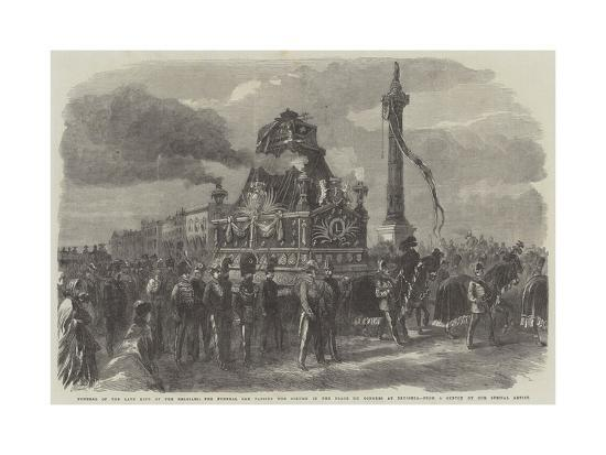 Funeral of the Late King of the Belgians--Giclee Print