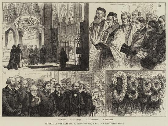 Funeral of the Late Mr W Spottiswoode, in Westminster Abbey--Giclee Print