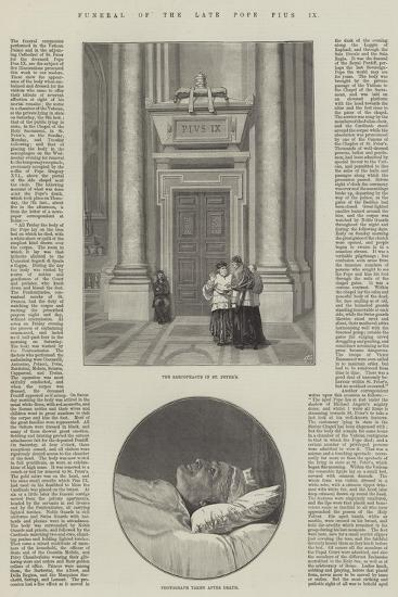 Funeral of the Late Pope Pius IX--Giclee Print