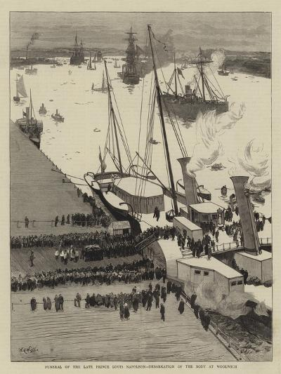 Funeral of the Late Prince Louis Napoleon, Debarkation of the Body at Woolwich-William Lionel Wyllie-Giclee Print