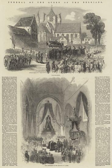 Funeral of the Queen of the Belgians--Giclee Print
