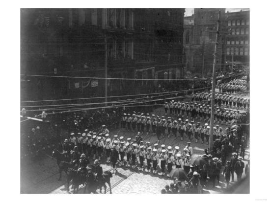 Funeral Procession for President Grant, Boys Marching NYC Photo - New York, NY-Lantern Press-Art Print