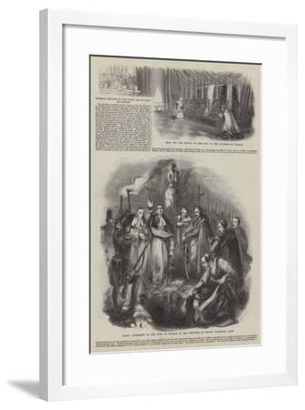 Funeral Services of the Duke and Duchess De Praslin--Framed Giclee Print