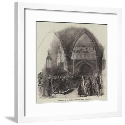 Funerals at St Nicholas Church, Great Yarmouth--Framed Giclee Print