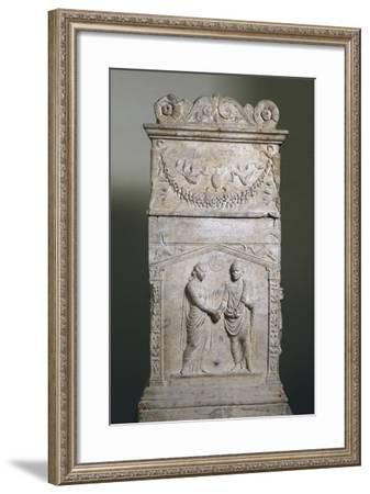 Funerary Altar with Wedding Scene--Framed Giclee Print