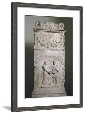 Funerary Altar with Wedding Scene--Framed Giclee Print