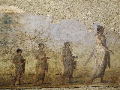 Funerary Fresco of Doctor Patron, from Porta Capena at Rome--Giclee Print