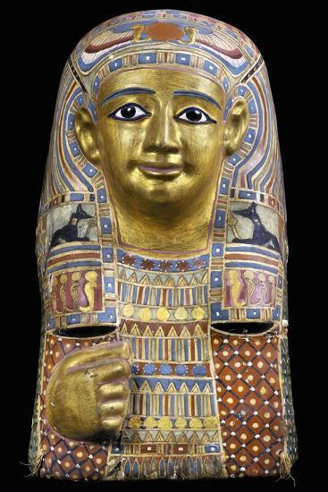 Funerary Mask, Gilded and Painted Cartonnage--Giclee Print