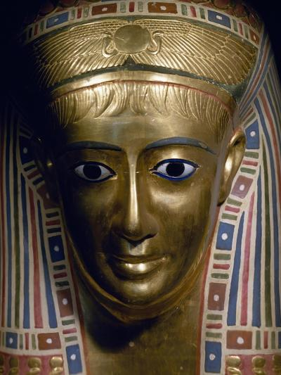 Funerary Mask, Gold, from Fayoum, Roman Empire--Giclee Print
