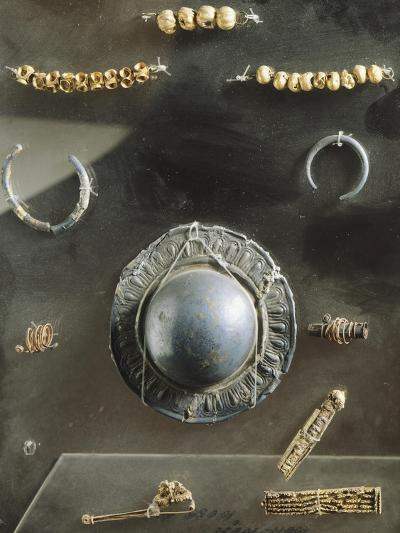 Funerary Objects, Including Jewelry. Etruscan Civilization, 7th Century BC--Giclee Print
