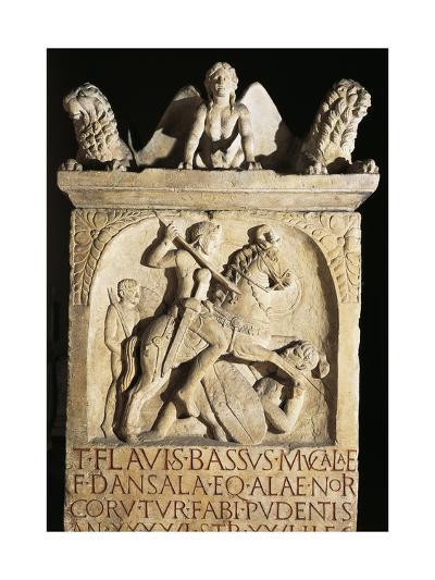 Funerary Stele of Knight Flavio Basso Stationed in Noricum--Giclee Print