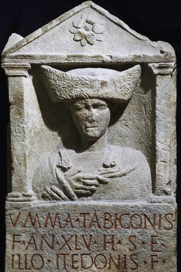 Funerary Stele of Umma in Pannonian Costume from Au Am Leithaberg, Austria--Giclee Print
