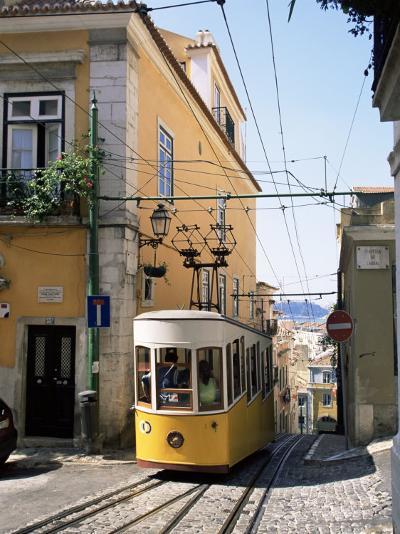 Funicular at Elevador Da Bica, Lisbon, Portugal-Yadid Levy-Photographic Print