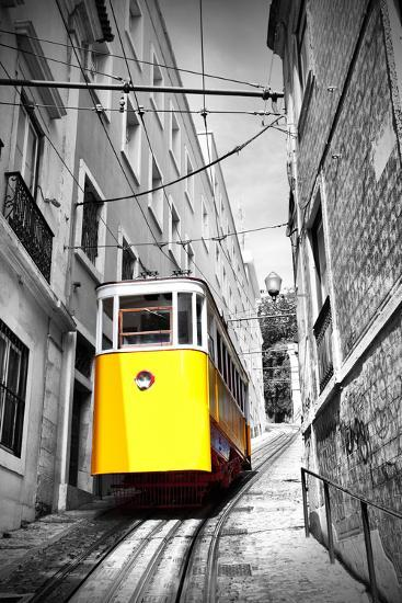Funicular (Elevador Do Lavra) in Lisbon, Portugal-Zoom-zoom-Photographic Print