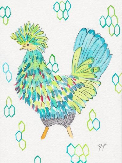 Funky Chicken 2-Beverly Dyer-Art Print