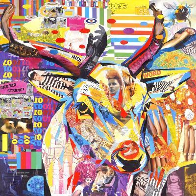 Funky Deer-James Grey-Art Print