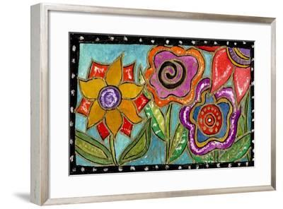 Funky Flower Garden-Wyanne-Framed Giclee Print