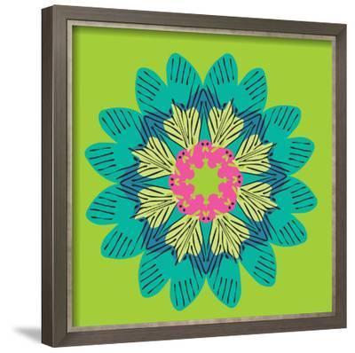 Funky Frida Flower-Belen Mena-Framed Giclee Print