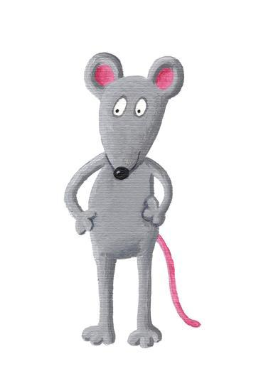 Funny Grey Mouse-andreapetrlik-Art Print