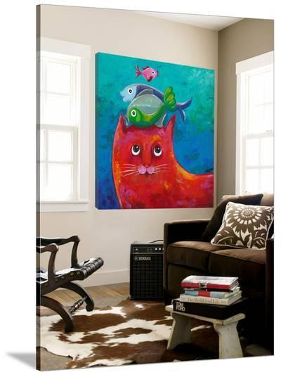 Funny Kitty and Fish-Y^ Hope-Loft Art