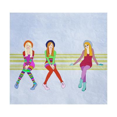 Funny Teen Girls,, Fashion-vipa21-Art Print