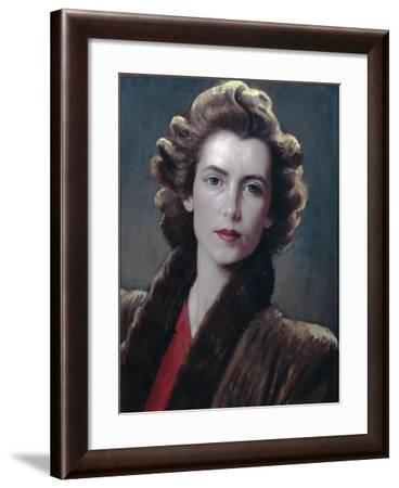 Fur Collar--Framed Giclee Print