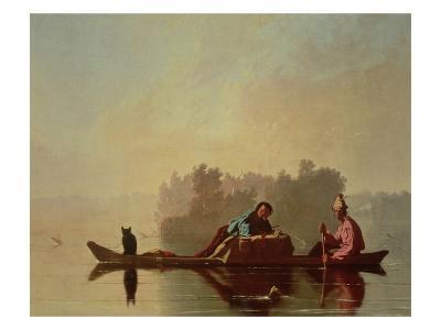 Fur Traders Descending the Missouri, 1845-George Caleb Bingham-Giclee Print