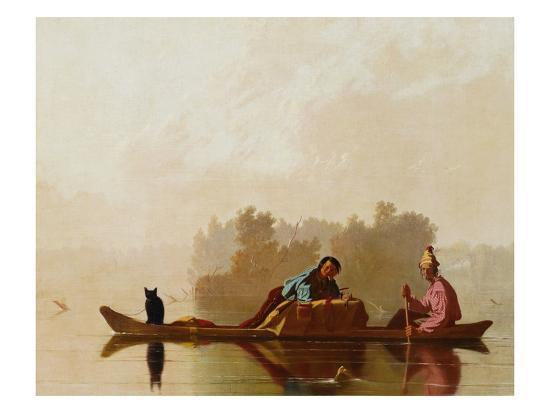 Fur Traders Descending the Missouri-George Caleb Bingham-Premium Giclee Print