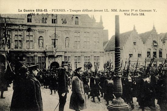 Furnes Westflandern, Troupes, Albert 1Er, Georges V--Giclee Print