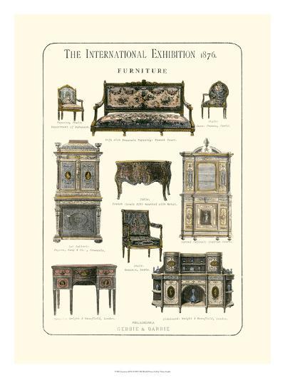 Furniture 1876--Giclee Print