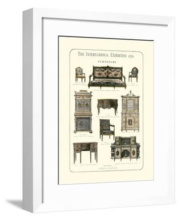 Furniture 1876--Framed Giclee Print