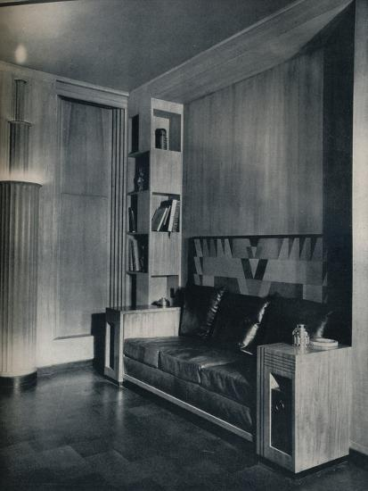 'Furniture and interior of a private office. Designed by Joseph Sinel', 1930-Unknown-Photographic Print