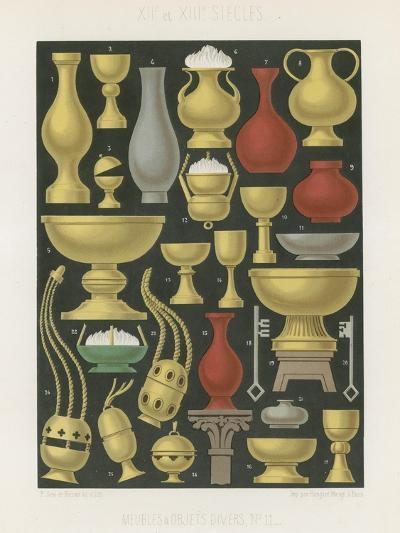 Furniture and Various Objects of the 12th and 13th Centuries--Giclee Print
