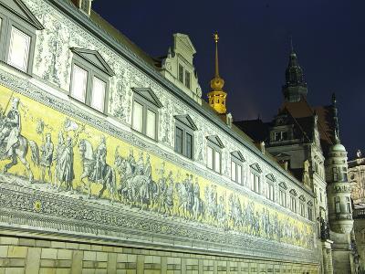 Furstenzug on the Walls of Dresden Castle, Dresden, Saxony, Germany, Europe-Hans Peter Merten-Photographic Print
