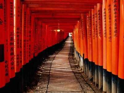 "Fushimi-Inari Taisha ""Torii Tunnels,"" Japan-Frank Carter-Photographic Print"