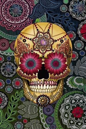 Sugar Skull Paisley Garden