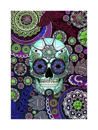 Sugar Skull Sombrero Night