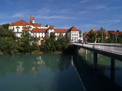 Fussen, River Lech and Castle, Allgau, Bavaria, Germany, Europe-Hans Peter Merten-Photographic Print