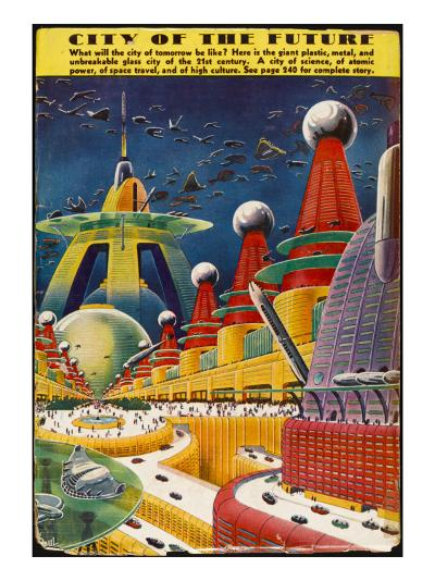 Future City 1942--Giclee Print