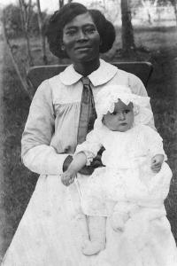 Future First Lady, Claudia Alta 'Lady Bird' Taylor with Her Nurse, Alice Tittle, 1913