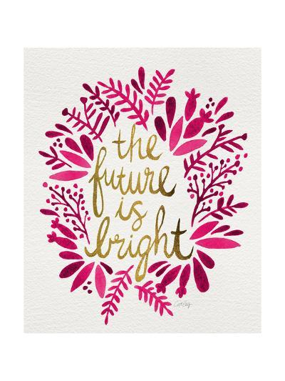 Future is Bright - Pink and Gold-Cat Coquillette-Giclee Print