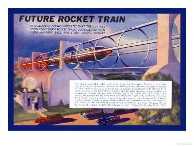 Future Rocket Train-H.w. Mccaulley-Art Print