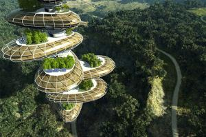 Future Tree Tower in Forest