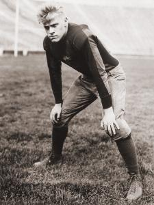 Future US President Gerald Ford Played Football During His College Years, Ca. 1933