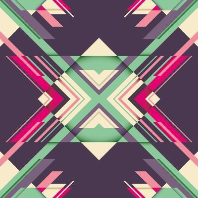 Futuristic Abstraction with Geometric Shapes. Vector Illustration.-Radoman Durkovic-Art Print