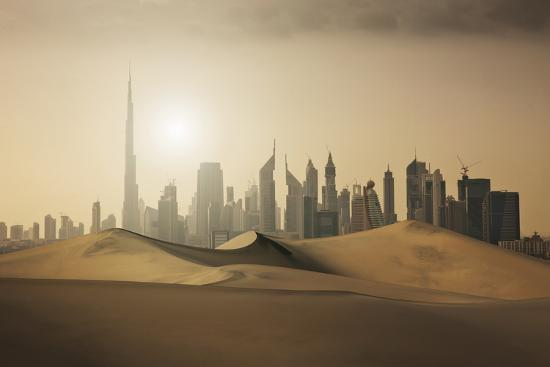 Futuristic City in the Desert-Buena Vista Images-Photographic Print