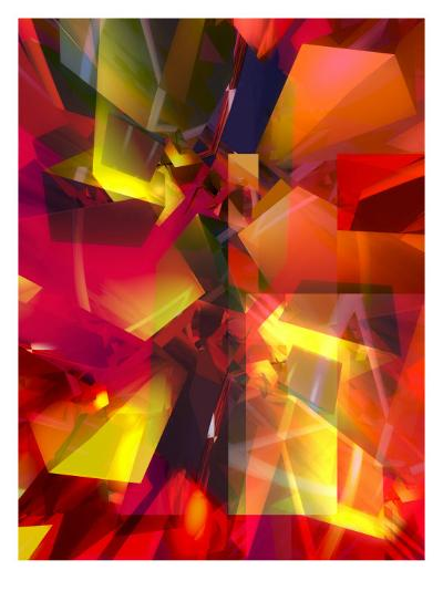 Futuristic Texture--Art Print
