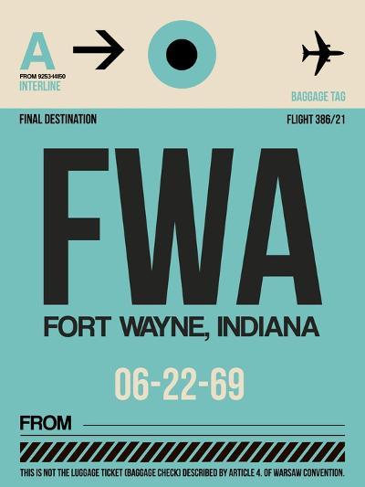 FWA Fort Wayne Luggage Tag I-NaxArt-Art Print