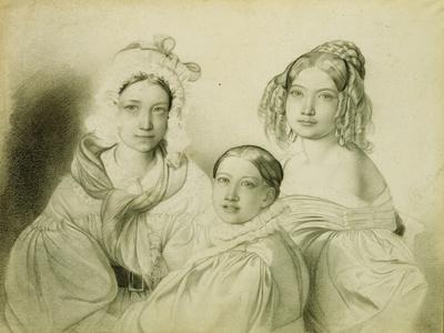 Portrait of Countesses Praskovia, Nadezhda and Maria Vyazemsky, 1835