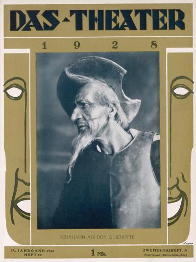Fyodor Ivanovich Chaliapin Russian Opera Singer as Don Quichotte--Photographic Print